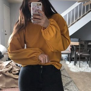 Zara balloon sleeve top